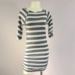 LA Made Striped BodyCon Dress Size Small